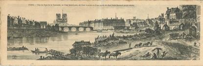 """CPA PANORAMIQUE FRANCE 75004 """"Paris, vue du pont de la Tournelle"""""""