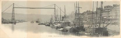 "CPA PANORAMIQUE FRANCE 76 ""Rouen, pont transbordeur"""
