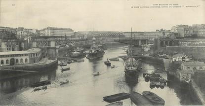 """CPA PANORAMIQUE FRANCE 29 """"Brest, port militaire, le pont national"""""""