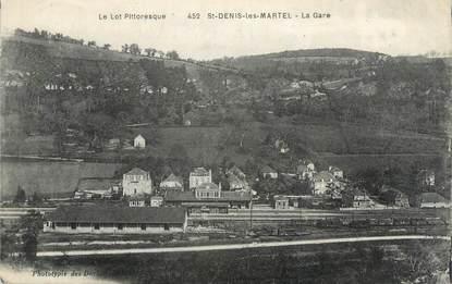 """CPA FRANCE 46 """"Saint Denis Les Martel, la gare"""""""