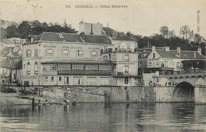 "CPA FRANCE 91 ""Corbeil, Hotel Bellevue"""