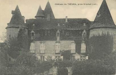 """CPA FRANCE 46 """"Château de Thégra près Gramat"""""""
