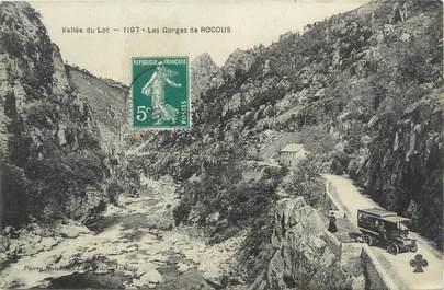 """CPA FRANCE 46 """"Les gorges de Rocous"""" / AUTOBUS"""