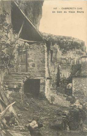 """CPA FRANCE 46 """"Cabrerets, un coin du vieux bourg"""""""