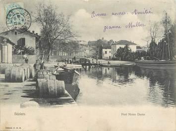 """CPA PANORAMIQUE FRANCE 34 """"Béziers, port Notre Dame"""""""