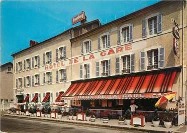 """CPSM FRANCE 63 """"Ambert, hôtel de la gare"""""""