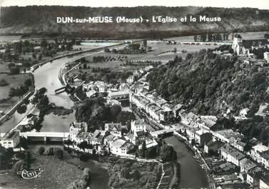 """CPSM FRANCE 55 """"Dun sur Meuse, l'église et la Meuse"""""""