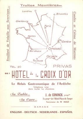 """CPSM FRANCE 07 """"Privas, hôtel de la Croix d'Or"""""""
