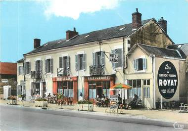 "CPSM FRANCE 03 ""Villeneuve sur Allier, hôtel de Paris"""