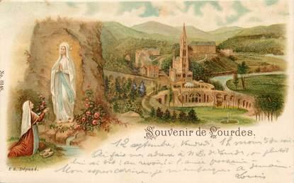 """/ CPA FRANCE 65 """"Souvenir de Lourdes"""""""