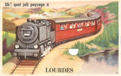 """CPA FRANCE 65 """"Lourdes"""" / CARTE A SYSTEME"""