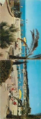"""CPSM PANORAMIQUE LIVRET FRANCE 83 """"Les Lecques, Hotel de la plage"""""""
