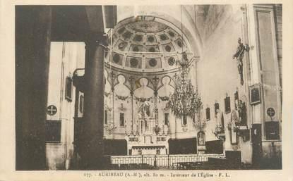 """CPA FRANCE 06 """"Auribeau, intérieur de l'église"""""""