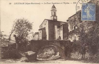 """CPA FRANCE 06 """"Lucéram, le pont supérieur et l'église"""""""
