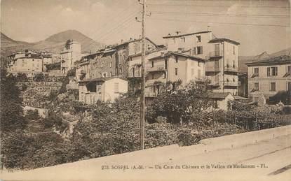 """CPA FRANCE 06 """"Sospel, un coin du château et le vallon de Merlanson"""""""