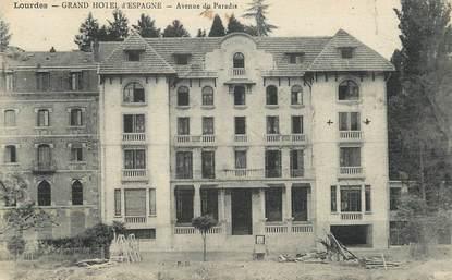 """/ CPA FRANCE 65 """"Lourdes, grand hôtel d'espagne"""""""