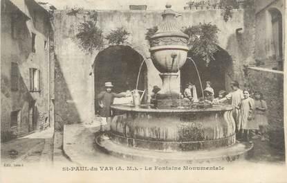 """CPA FRANCE 06 """"Saint Paul du Var, la fontaine monumentale"""""""