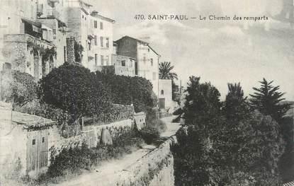 """CPA FRANCE 06 """"Saint Paul, le chemin des remparts"""""""
