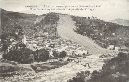 """CPA FRANCE 06 """"Roquebillière, catastrophe du 24 novembre 1926"""""""