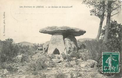 """CPA FRANCE 34 """" Env. de Lodève, Dolmen """""""