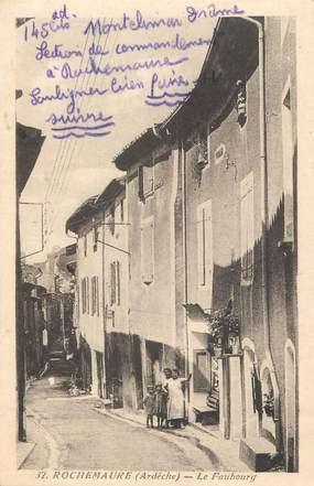"""/ CPA FRANCE 07 """"Rochemaure, le faubourg"""""""
