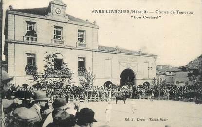 """CPA FRANCE 34 """" Marsillargues, course de Taureaux """" Lou Coutard """" """""""