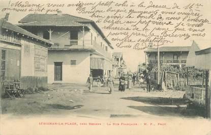 """CPA FRANCE 34 """" Sérignan la Plage, la rue Française """""""