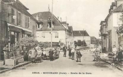 "CPA FRANCE 39 "" Mouchard, route de la gare """