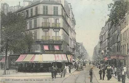 """CPA FRANCE 75014 """"Paris, rue de la Gaieté"""""""