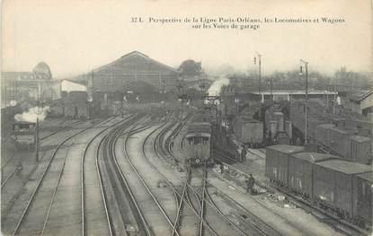 """CPA FRANCE 75014 """"Paris, perspective de la ligne Paris Orléans"""" / TRAIN"""