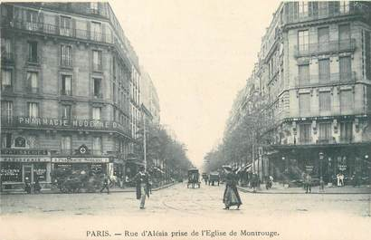 "CPA FRANCE 75014 ""Paris, rue Alésia"""