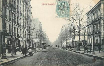 "CPA FRANCE 75014 ""Paris, la rue Alésia"""