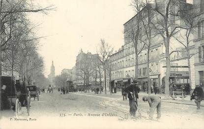 """CPA FRANCE 75014 """"Paris, avenue d'Orléans"""""""
