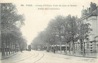 """CPA FRANCE 75014 """"Paris, avenue d'Orléans, porte du lion de Belfort"""""""
