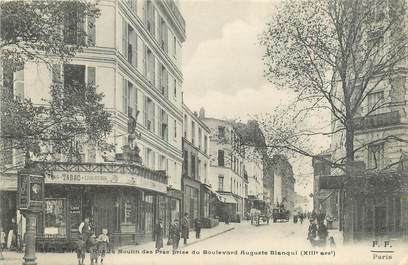 "CPA FRANCE 75013 ""Paris, rue du Moulin des Prés"""