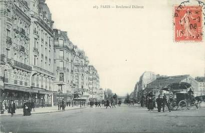 "CPA FRANCE 75012 ""Paris, boulevard Diderot"""