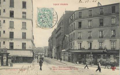"CPA FRANCE 75010 ""Paris, rue Louis Blanc"""