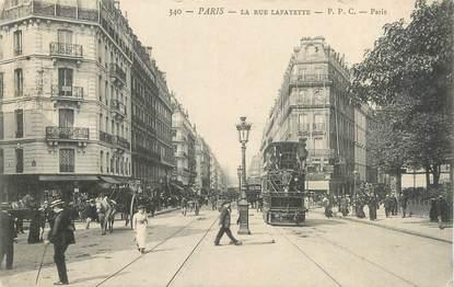 """CPA FRANCE 75009 """"Paris, la rue Lafayette"""""""