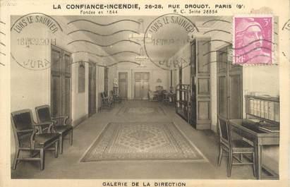 """CPA FRANCE 75009 """"Paris, la confiance incendie"""" / ASSURANCE"""