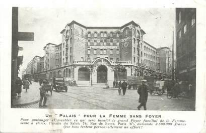 """CPA FRANCE 75008 """"Paris, un palais pour la femme sans foyer"""""""