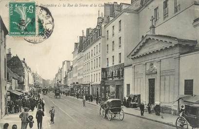 "CPA FRANCE 75007 ""Paris, perspective de la rue de Sèvres"""