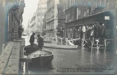 """CPA FRANCE 75007 """"Paris, rue de Bellechasse"""" / INONDATIONS"""