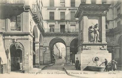 """CPA FRANCE 75007 """"Paris, rue de l'exposition de la Fontaine de Mars"""""""