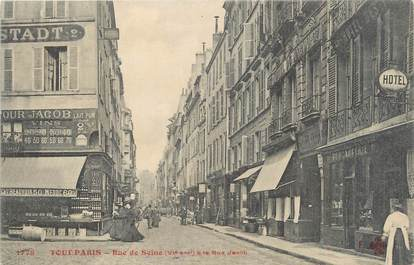 "CPA FRANCE 75006 ""Paris, rue de Seine"""