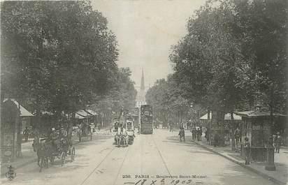 """CPA FRANCE 75006 """"Paris, boulevard Saint Michel"""""""