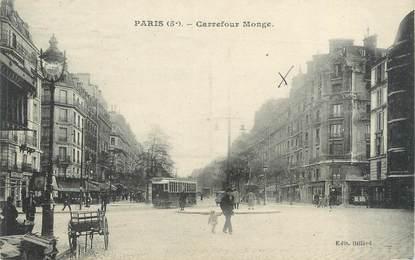 """CPA FRANCE 75005 """"Paris, carrefour Monge"""""""