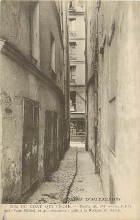 """CPA FRANCE 75005 """"Paris, rue du chat qui pêche"""""""