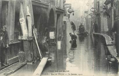 """CPA FRANCE 75005 """"Paris, rue de Bièvre"""" / INONDATIONS"""