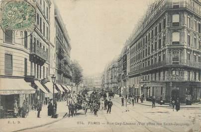 """CPA FRANCE 75005 """"Paris, rue Gay Lussac"""""""