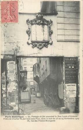 """CPA FRANCE 75004 """"Paris Historique"""""""